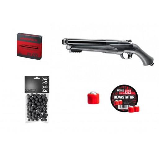 hds 68 + raozr gun + 100 balles caoutchouc + c02 umarex