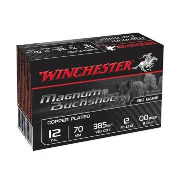 winchester 12/70 magnum buckshot 12 grains - sanglier