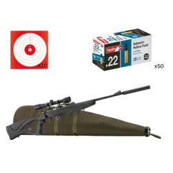 pack bo manufacture 22lr + housse country + silencieux + 50 balles + 10 cibles