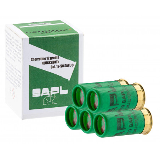 5 cartouches minio gomm-cogn chevrotine 12-50 sapl