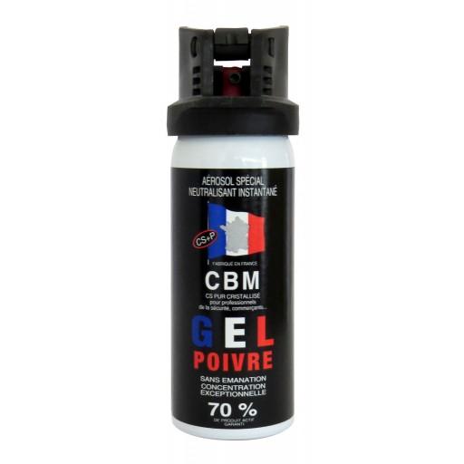 bombe gel poivre 50ml cbm