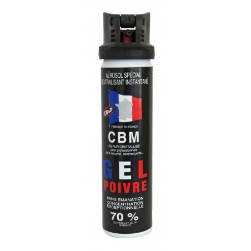bombe gel poivre 75ml cbm